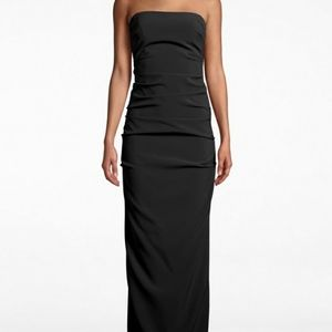 NWT Nicole Miller Collection Strapless Ruched Dres